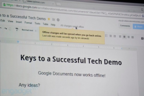 Google anuncia Google Docs 'offline' y aplicaciones para Google Drive