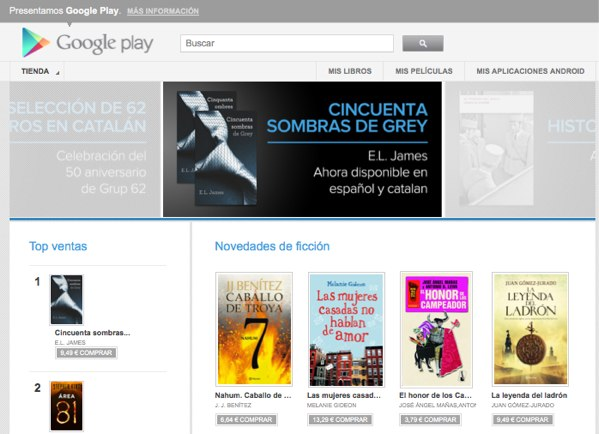 Google Play Books abre hoy sus puertas en Espaa y Alemania