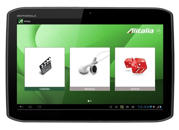 Motorola Xoom 2 alegrar los vuelos a los pasajeros de Alitalia