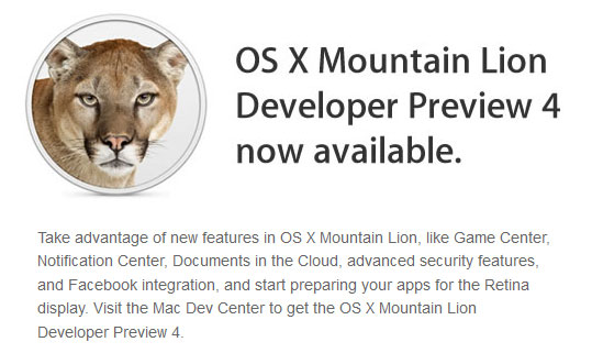 iOS 6 para desarrolladores, iTunes 10.6.3 y Mountain Lion Preview 4 ya disponibles