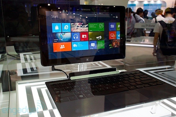 Samsung Series 5 y Series 7 Hybrid PC con Windows 8 bajo la vitrina - Computex 2012