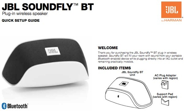 La FCC muestra el pequeo altavoz JBL Soundfly BT que se conecta directamente al enchufe