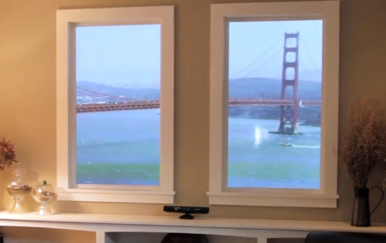 Winscape, una ventana virtual que experimenta con Kinect y pantallas 4K (vdeo)