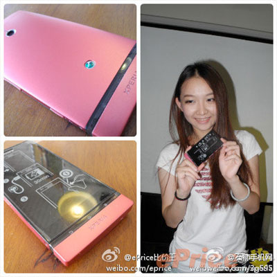 Sony Xperia P se viste de dulce color rosa en Asia