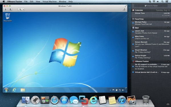 VMware Fusion 4 se estrena con Windows 8 y una profunda integracin con Mountain Lion