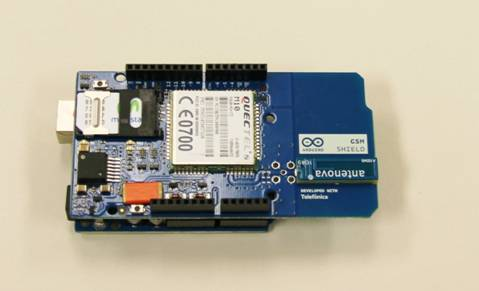 Arduino with updated GSM Shield for Telefonica