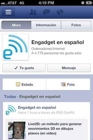 Actualizacin de Facebook para iOS ya disponible, es 'el doble de rpida'