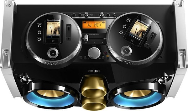 Philips Mini Hi-Fi FWP3200D: Una 'rave' portátil compatible con iOS