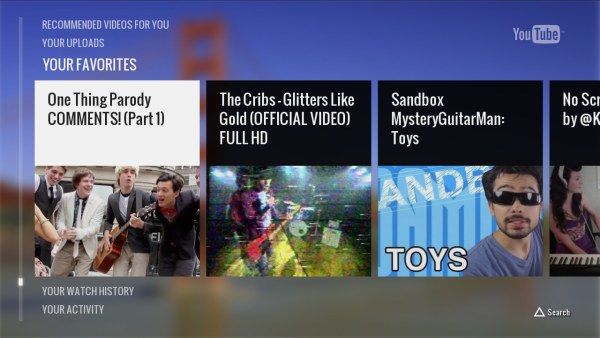 YouTube lanza una nueva app para PS3 y convierte tu telfono en mando a distancia