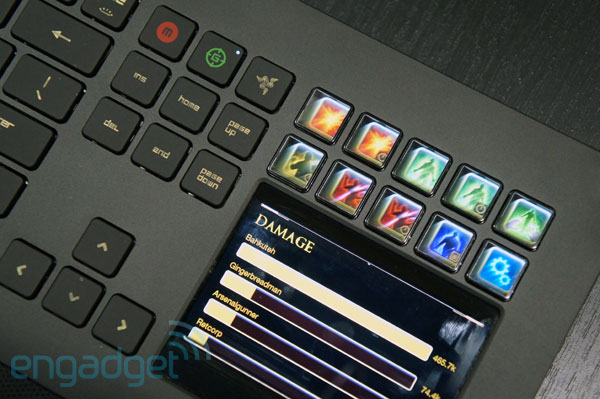 Razer Deathstalker, un vistazo al teclado jugn con pantalla LCD y Switchblade UI