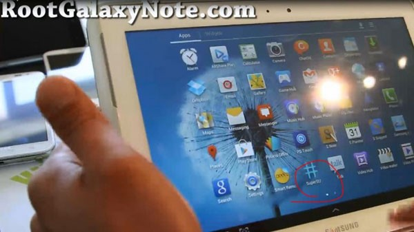 Galaxy Note 10.1 ya ha sido rooteado