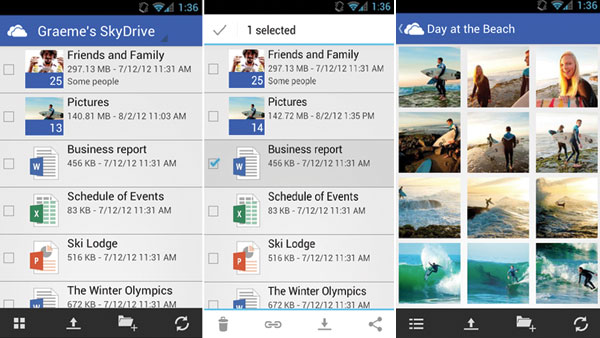 Microsoft SkyDrive ya disponible para Android