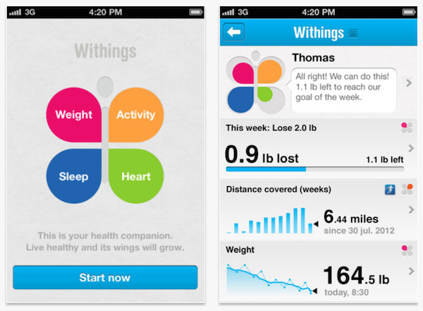 Withings Health Companion monitoriza toda tu actividad desde iOS