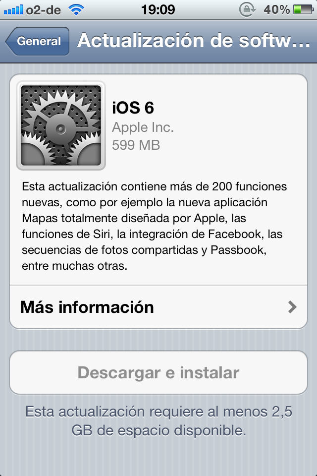 iOS 6 llega puntual a su cita y ya est disponible para su descarga