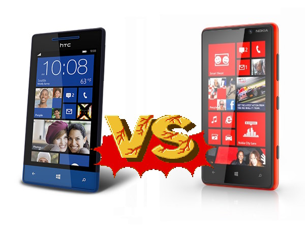 Windows Phone 8S de HTC vs. Nokia Lumia 820