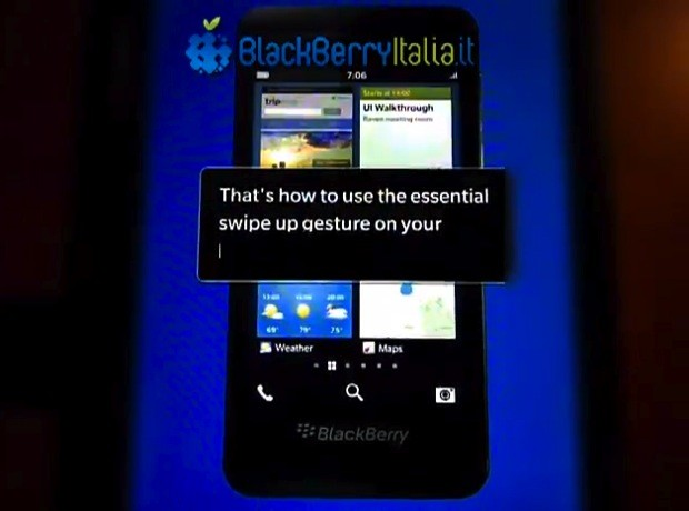 BlackBerry 10 vuelve a mostrarse en vídeo