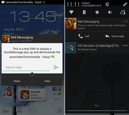 CyanogenMod mejora CM10 para Jelly Bean incorporando notificaciones pop-up para SMS
