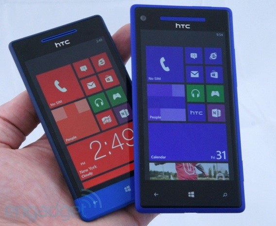 Windows Phone 8X y 8S by HTC, retrato de familia