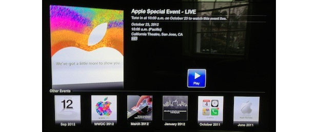 Apple transmitir en directo el evento de hoy a travs del Apple TV (mientras tanto Apple Store cerradas)