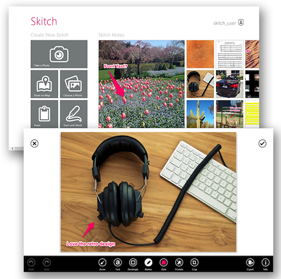 Skitch aterriza por fin en los escritorios de Windows