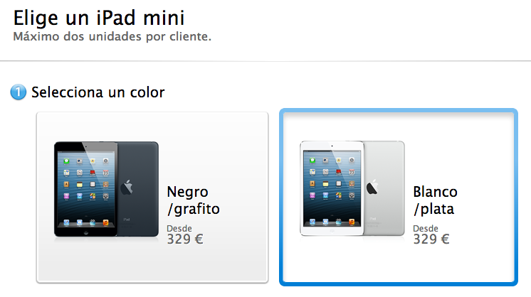 Apple comienza a aceptar las reservas de los nuevos iPad (iPad mini se sirve en 