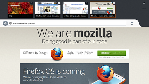 Firefox Metro para Windows 8 disponible como 'nightly build'