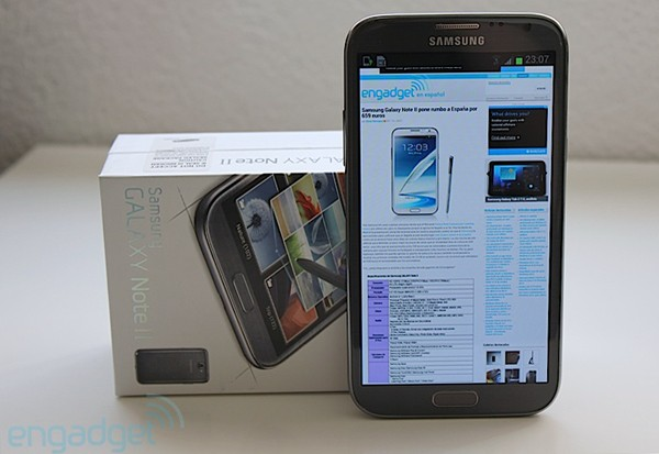 Samsung Galaxy Note II, desempaquetado