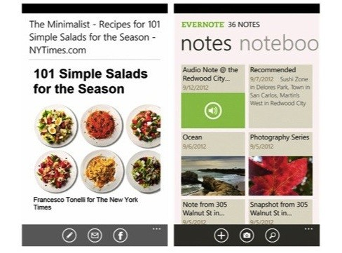 evernote windows phone actualizacion