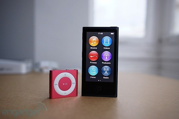 ipod nano 7G shuffle 4G analisis