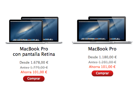 Apple Espaa presenta sus descuentos por el 'Black Friday': 101 euros en los MacBook y 41 en el iPad Retina