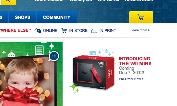 Aparece una desconocida Wii mini en la web de BestBuy Canad