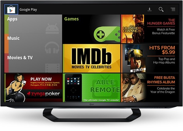 Google ofrecer pelis y msica a travs de Google TV en Australia, Canada y parte de Europa