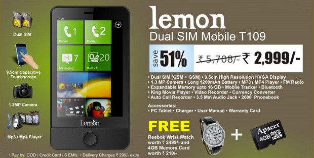 Ms falso que Judas: Lemon T109, un cctel de WinPho con el hub de HTC y doble SIM