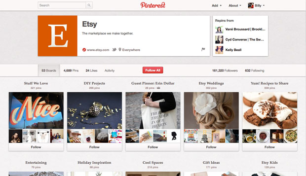 Pinterest cambia sus condiciones y ya permite cuentas con fines comerciales