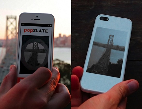 Popslate lanza una carcasa para el iPhone 5 con una pantalla E Ink de 4