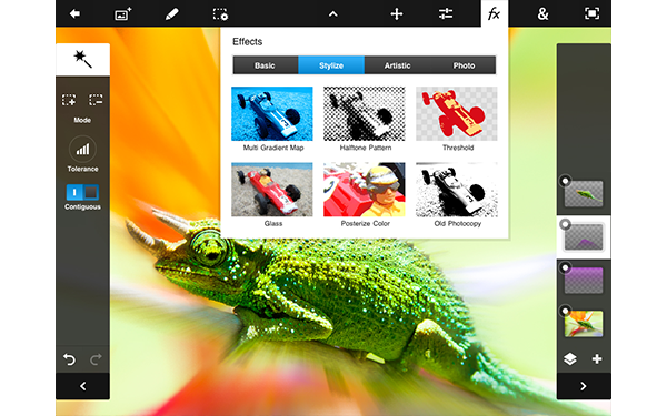 Adobe Photoshop Touch se actualiza para adaptarse a los iPad mini y Nexus 7