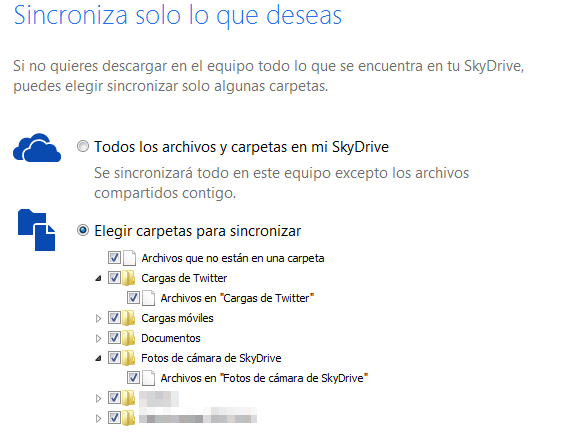 SkyDrive se actualiza con sincronizacin selectiva, nuevas opciones para compartir archivos y bsquedas en dispositivos mviles