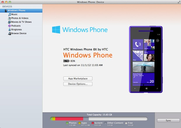 Windows Phone 7 Connector para Mac se actualiza; ahora se llama 'Windows Phone'