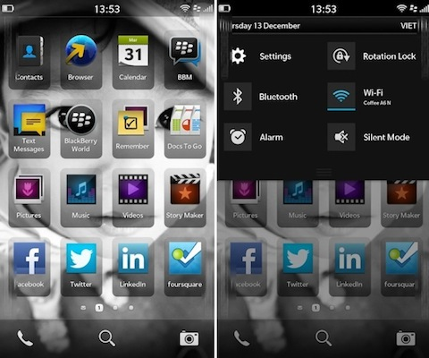 Imgenes filtradas de BlackBerry 10 muestran una interfaz nueva y un asistente de voz
