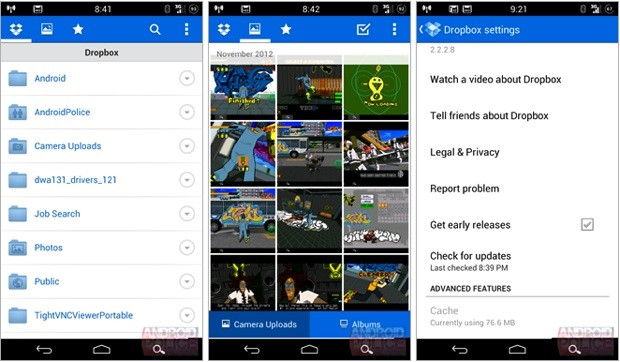 Dropbox beta para Android permite compartir y organizar tu coleccin de fotos en la nube