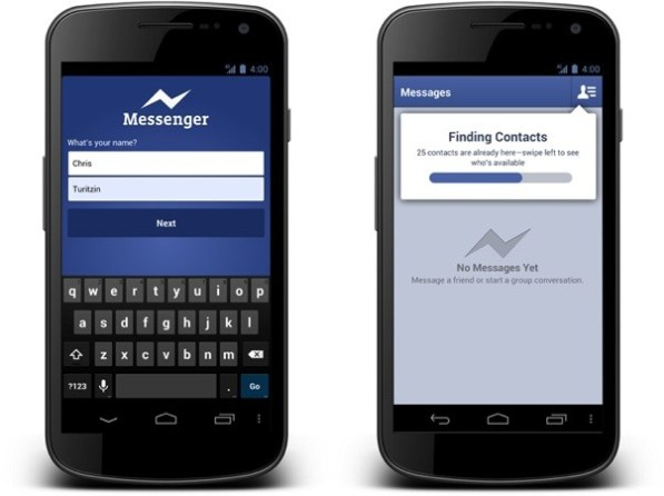 Facebook Messenger para Android permite enviar mensajes sin cuenta de Facebook