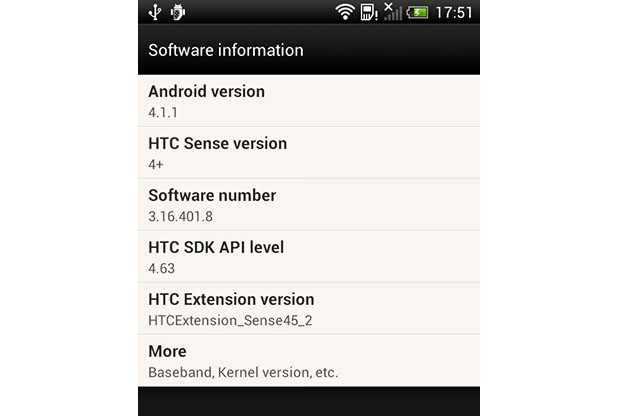 Jelly Bean 4.1.1 llega finalmente al HTC One S