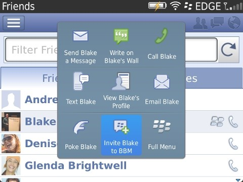 Facebook para BlackBerry se actualiza con soporte para BBM