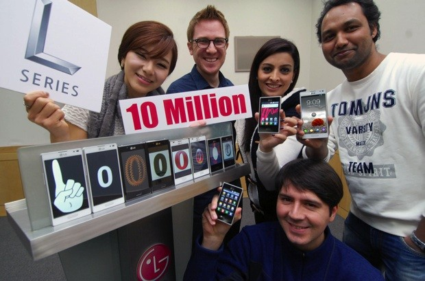 LG celebra la venta de 10 millones de Optimus L