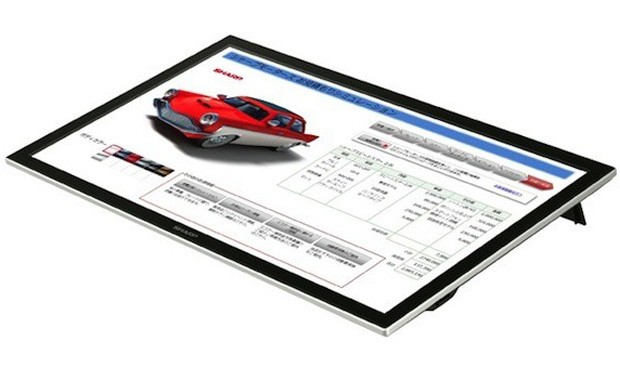 Sharp presenta su LL-S201A 'BIG PAD', un panel multitctil de 20 pulgadas con su propio stylus