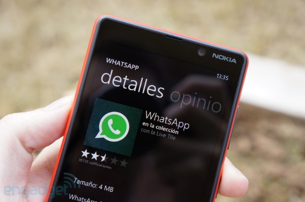 WhatsApp ya disponible para Windows Phone 8