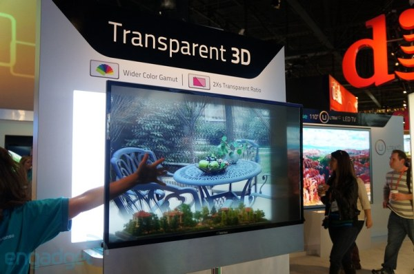 HiSense muestra en el CES su pantalla 3D transparente