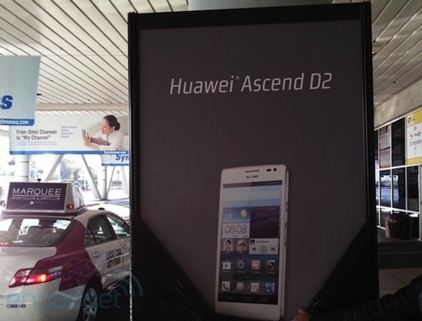 Huawei Ascend D2 confirmado gracias a una pancarta del CES 2013