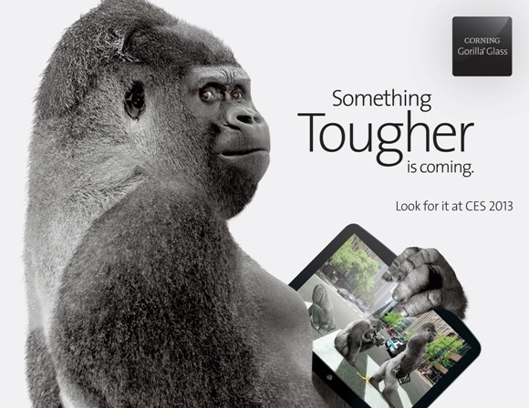 Corning anuncia Gorilla Glass 3, ms duro y ms simio que nunca