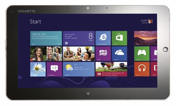 Gigabyte presenta en el CES dos tablets con Windows 8
